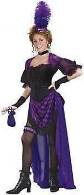 Lady Maverick Ladies Fancy Dress Costume Womens S/M 10-12 Size: S/M  Dress Size :10-12 UK  Includes Purple & Black Dress with gathered skirt and Corset .  Plus Black Choker, Armlets, Garter & Hat.  Model is 5ft 7      *PAYMENT INFORMATION*   We accept payment for this item by any of the following methods:  PayPal ,Credit Card ,Debit Card or Cash on collection   Please note if you wish to collect an item when possible then this is cash on collection only  do not pay by paypal for any item you…