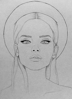 Fashion Illustration Face, Illustration Vector, Fashion Design Illustrations, Portrait Illustration, Pencil Art Drawings, Art Drawings Sketches, Drawing Faces, Sketches Of Faces, Images Of Drawings