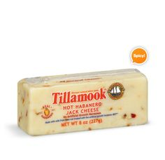 Maybe my favorite cheese ever. Hot Habanero Jack Cheese. Love all things Tillamook!