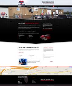 An Engaging and Enlightening Automotive Web Design By VisionFriendly.com Illinois, Collision Repair, Auto Body Repair, Web Design, This Or That Questions, Website, Website Designs, Site Design