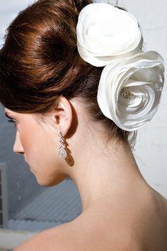 Ribbon flowers for hair-wear