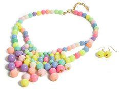Damski Naszyjnik Pastelowe kolory bubble EdiBazzar Beaded Necklace, Jewelry, Fashion, Beaded Collar, Moda, Jewlery, Pearl Necklace, Jewerly, Fashion Styles