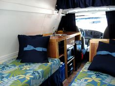 How one woman turned her cargo van into a cozy camper van.