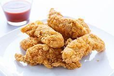 Crispy Chicken Fingers Recipe Makes: 4 servings Delicious Healthy Chicken Fingers Recipe Ingredients 12 ounces skinless, boneless chicken-breast halves 1 eg