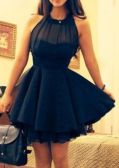 Short Length Halter Chiffon Sleeveless A-line Ruched Homecoming / Cocktail Dresses