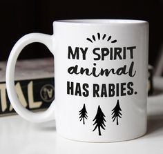 Spirit Animal unique coffee mug, bestfriend gift, best friend gift, gift for her, inspirational mug, funny coffee mugs, funny mugs by FuzzyandBirch on Etsy https://www.etsy.com/listing/486668499/spirit-animal-unique-coffee-mug