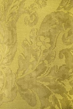 Brocatello Vinyl Wallpaper - two tone demask design mimicking fabric, in golds on linden green