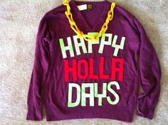 I feel like I need this. I definitely want this. Ugly Xmas sweater day at school? Yes please