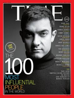 Bollywood actor, Aamir Khan is on of TIME Magazine's 100 Most Influential People TIME Magazine Cover, April 29 / May 6, 2013