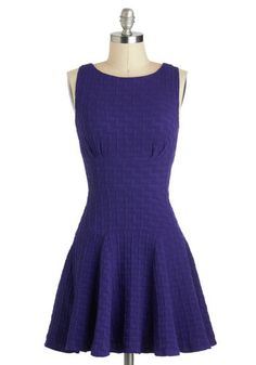 Dresses like this one make me four years old and in love with everything purple again.