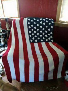 American flag blanket by TonyasSweetThings on Etsy