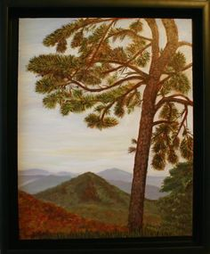 "Chestnut Overlook 2, Blue Ridge Parkway, 2015, oil on canvas, 16"" x 20"", $185 framed"