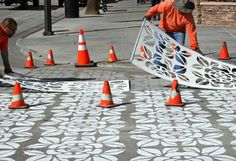 Pedestrian street art has been installed at six crosswalks in District. The crosswalk art program is the first of its kind in the City of Pa...