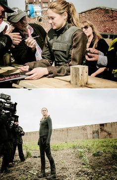 """New pictures of Shailene Woodley on the set of """"Divergent"""""""