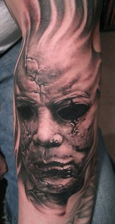 "Mike Myers, from the horror movie ""Halloween"" tattoos  http://media-cache7.pinterest.com/upload/97671885638090237_nvn66S22_f.jpg"