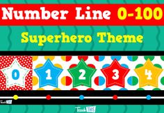 Number Line to 100 – Superhero Theme