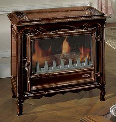 Régulation thermostatique Départ des fumées arrière Combustibles : GN Propane Fonte peinte anthracite ou émaillée