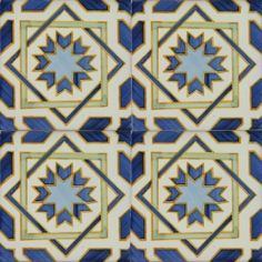 2413 Portuguese handmade majolica tile, approximately $8 per foot (???). Available from Euromkii.com