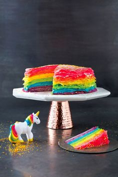 Step Up Your Dessert Game With This Dazzling Rainbow Crepe Cake