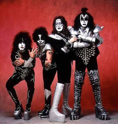 KISS....haha...we were told were were going to hell if we listened to them and AC/DC in high school...guess what ...I LOVE 'em!!!