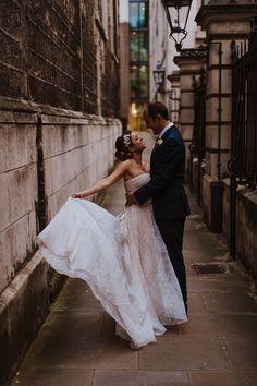 Banking hall wedding dress