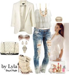 """""""day to night by Lyla..."""" by lilalinda ❤ liked on Polyvore"""
