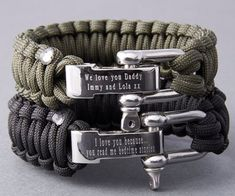 Our personalised paracord survival bracelets are perfect for the outdoor man in your life. From our range of paracord jewellery for men. Inspired by Bear Grylls, our survival bracelets are made from . Bear Grylls, Paracord Bracelets, Bracelets For Men, Survival Bracelets, Nylons, Personalized Gifts For Men, Parachute Cord, Engraved Bracelet, Top Gifts