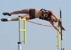 When Greensburg Salem pole vaulter Courtney McQuaide attempts her first vault Thursday at the Penn Relays, she will be making history. McQuaide, a junior, is the first Greensburg Salem athlete to c… Pole Vault, Hells Angels, Vaulting, Athlete, Track, Magazine, History, Awesome, Girls
