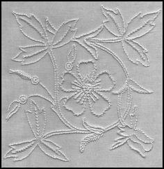 Floral white designed by Liz Almond of Blackwork Journey