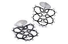Steel Lace Earrings by Sarah Holden