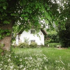 british, cottage, and oldhouses image summer aesthetic Cottage on We Heart It Cozy Cottage, Cottage Homes, White Cottage, Beautiful Homes, Beautiful Places, Farm Life, Country Life, Future House, Home And Garden