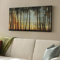 Golden Forest Wall Art for above couch