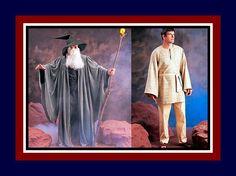 Wizard Robe-Bell Sleeves-Hood-Costume Sewing Pattern-Tunic-Pants-Belt-Gandorf Hobbit LOTR- Star Wars Jedi Obi Wan-Uncut-All Adult Sizes-Rare by FarfallaDesignStudio on Etsy