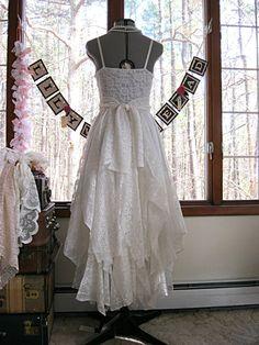 Tattered alternative bride hippie gypsy boho by LilyWhitepad