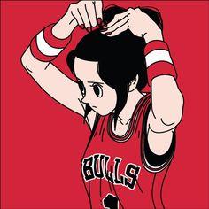Basketball Girl by Jungyoun Kim, via Behance