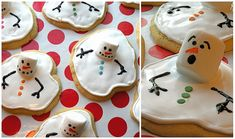 Recipe: Melting Snowmen Cookies - another take on the same idea - Mrs. Fields