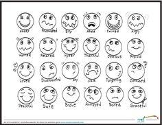 Feeling Faces Printable Coloring Sheet
