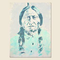 Sitting Bull - Teal/Seafoam