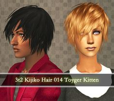 Download 3t2 Kijiko Hair 14: POOKLET || REMI  A conversion of Kijiko's hair, Toyger Kitten. Works for all ages and both genders and comes in pooklet/io/remi textures and colours. Elders are in custom for pooklet and attached to black for remi. Credits:Kijiko for the original meshPooklet/AlmightHat/Io/Aweeshie for coloursRemi/Pooklet for textures
