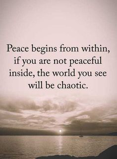 Peace begins from within