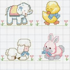 This Pin was discovered by Osc Cross Stitch Letters, Cross Stitch For Kids, Cross Stitch Borders, Cross Stitch Baby, Cross Stitch Animals, Cross Stitch Charts, Cross Stitching, Cross Stitch Embroidery, Christmas Embroidery Patterns