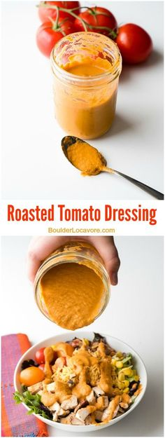 Roasted Tomato Dressing with Mexican Cobb Salad. This simple dressing is so easy…