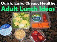 Lunch Ideas - wk of 9/8/13 - Sandwich with lots of veggis to go along (variety is the spice of life!) Quick, Easy, Cheap, and Healthy: Lunch Ideas For Work!
