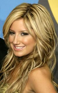 Ashley Tisdale - Blonde with Brown Lowlights