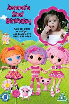 Lalaloopsy  Birthday Party Invitations 24 HOUR SERVICE 4x6 or 5x7. $6.99, via Etsy.