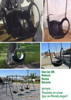 Old tires swing recliner