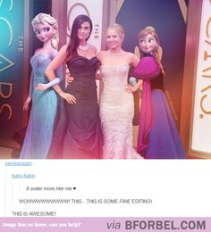 The BEST Picture Of The Frozen Sisters…