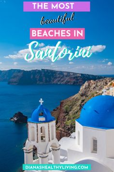 """Planning a trip to Santorini Greece? Santorini offers some of the finest beaches in the Aegean Sea with black volcanic sand and deep blue waters. Here's the """"Top Beaches in Santorini, Greece"""". Cruise Travel, Travel Tours, Europe Travel Tips, Cruise Vacation, European Travel, Cruise Excursions, Vacation Travel, Travel Ideas, Family Travel"""