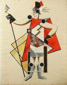 Aleksandra Ekster, costume design possibly for Inbisible Lady