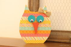 My Washi Tape Owl is the perfect addition to your spring decor and would look great in a little girl's room!
